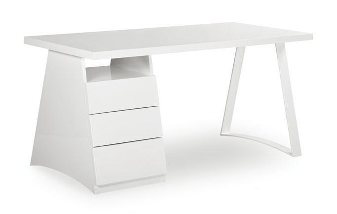 Escritorio con cajones en su parte izquierda mesa enchapada en blanco su base y estructura en - Mesa escritorio con cajones ...