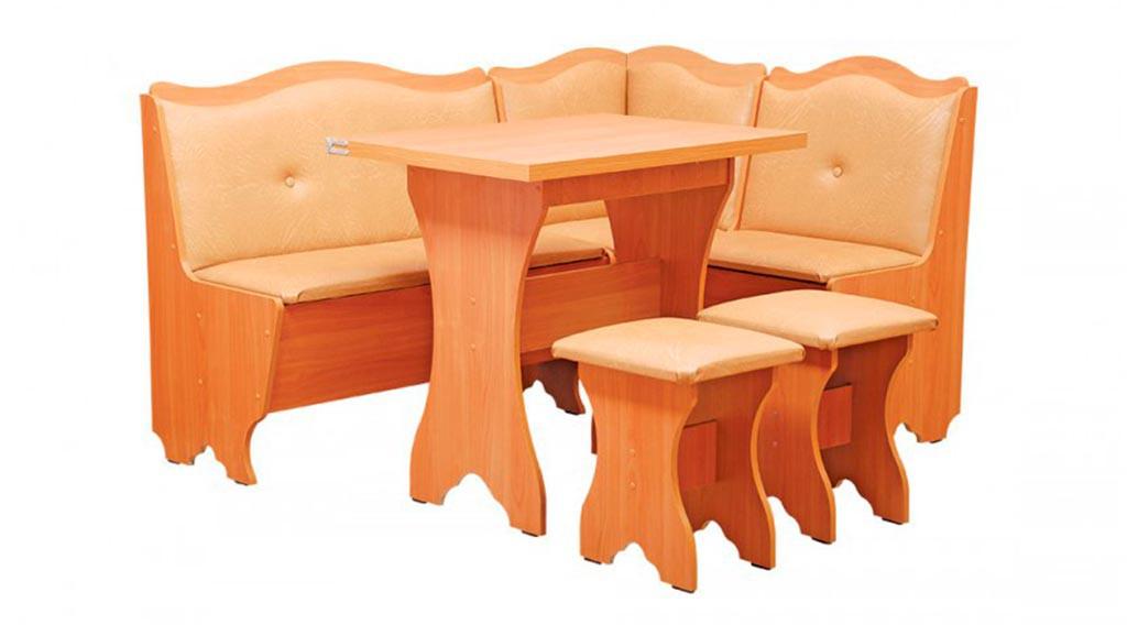 Juego de comedor auxiliar esquinero en mdf para siete for Juego de mesa y sillas esquineros