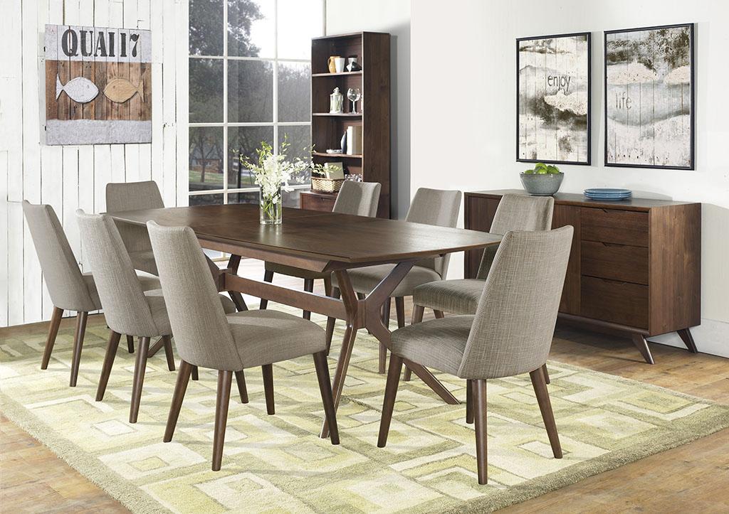 sillas de comedor grises juego de comedor en madera oscura para ocho puestos sus