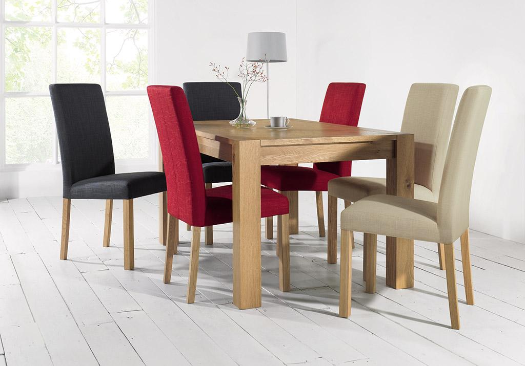 Juego de comedor moderno mesa rectangular en madera para for Comedor completo con mesa de carree