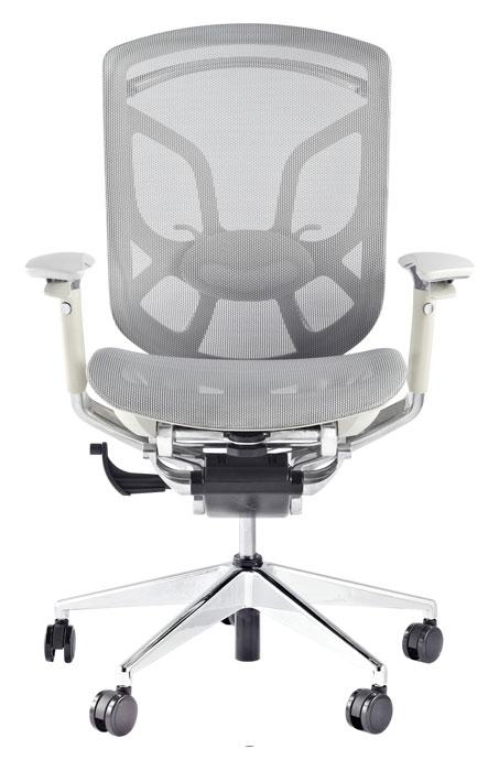 Silla gerencial de oficina color gris ergon mica con malla for Precio de sillas ergonomicas