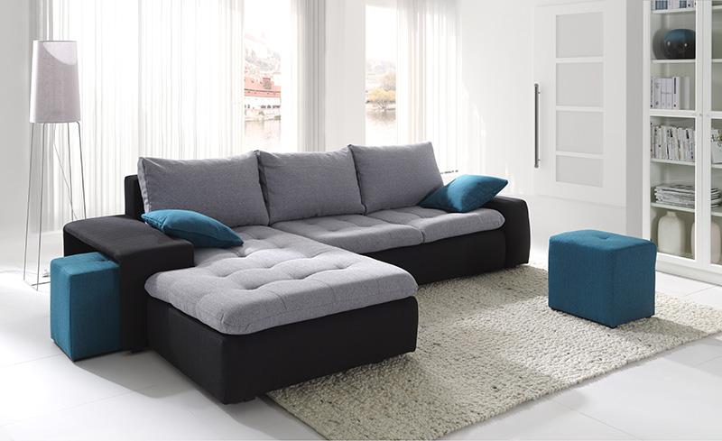 sof en l combinado negro y gris expos adecuaci n de